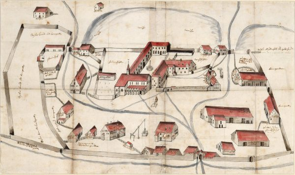 Kloster Wald 1681 - Copyright: Landesarchiv Baden-Württemberg, Quelle: Staatsarchiv Sigmaringen FAS DS 39 T 1-3 R 74,14
