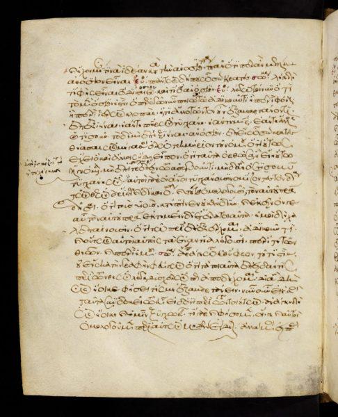 Seite aus Platon-Handschrift (Codex Tubingensis) – Quelle: Universitätsbibliothek Tübingen