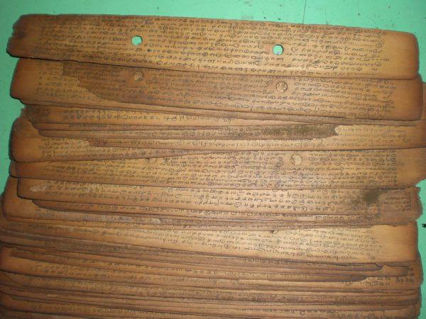 Palmblattschrift in Tamil über die Zubereitung von Medizin - Copyright: Roman Sieler