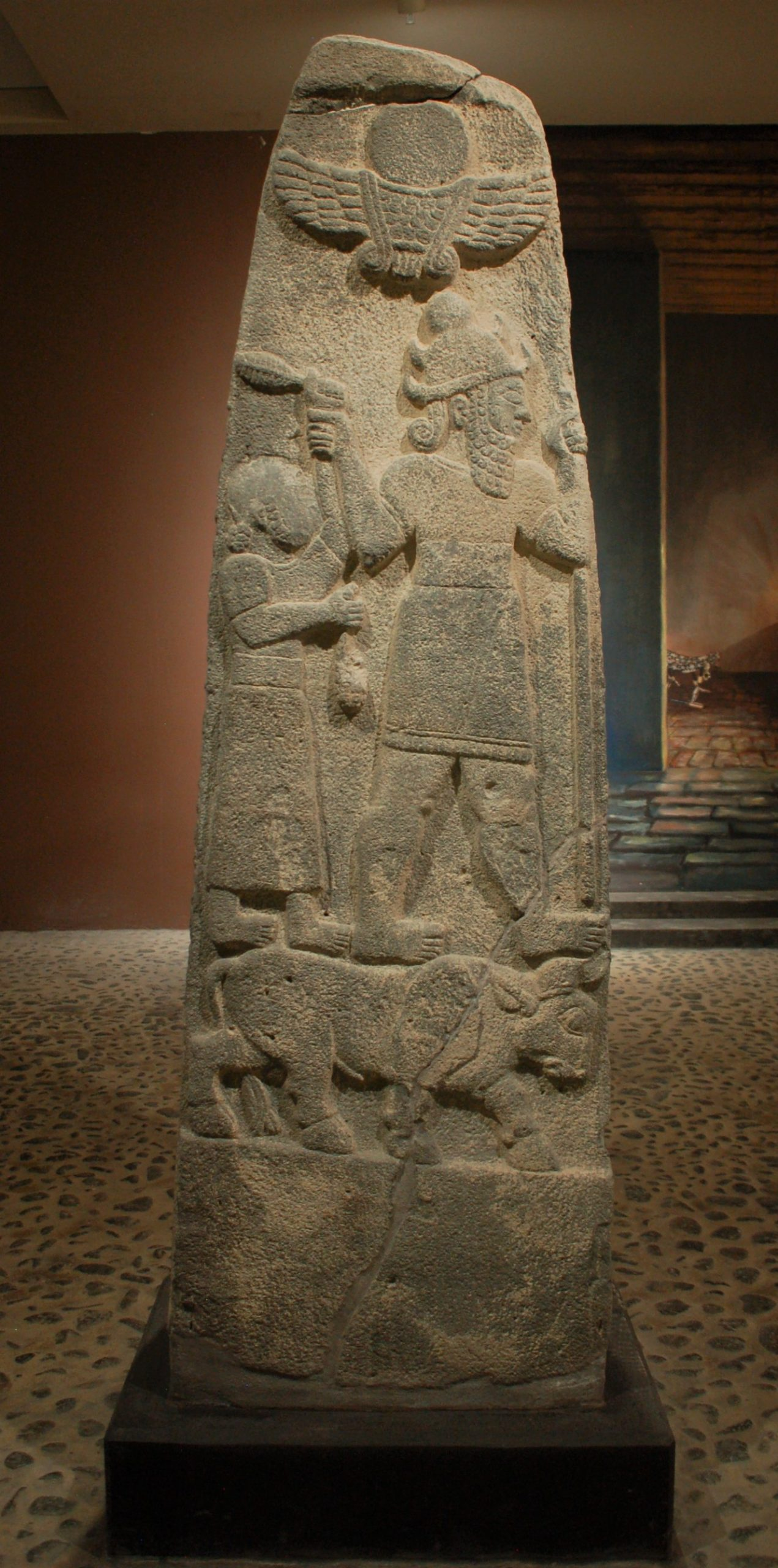 An ancient Stele made of Stone.